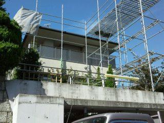 屋根葺き替え用ステージ足場