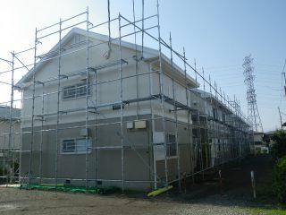 アパート外壁屋根塗装用足場