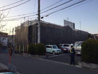 中高層修繕足場(事例21)