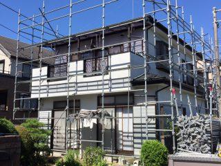 戸建修繕足場(事例1)