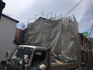 外壁塗装工事足場