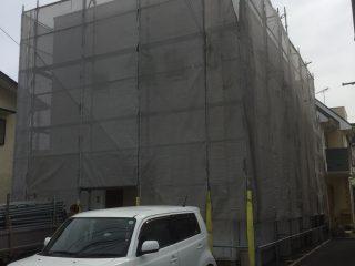 アパート外壁塗装足場
