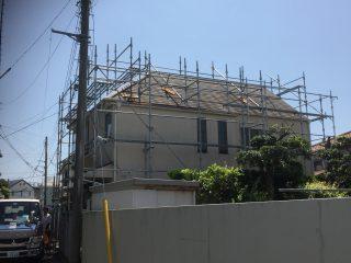 外壁屋根修繕工事足場