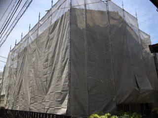 外壁修繕工事足場