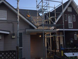戸建屋根修繕足場